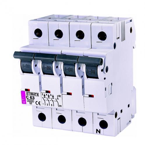 Автоматичний вимикач ETIMAT 6 3p+N C63