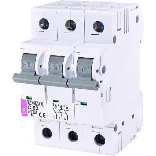 Автоматичний вимикач ETIMAT 6 3p C63