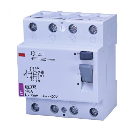 Дифференциальное реле EFI-4 AC 100/0.03