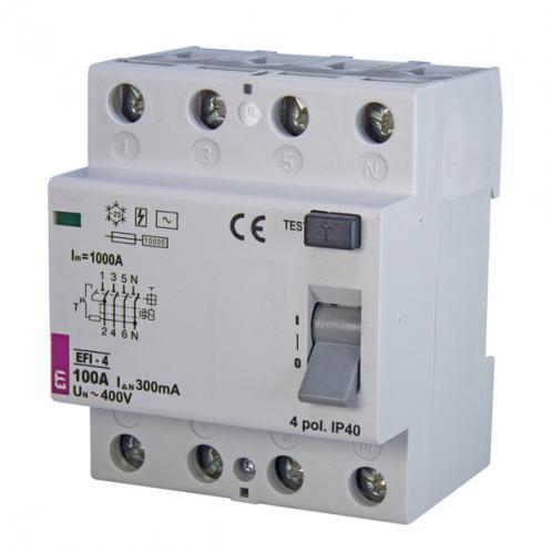 Дифференциальное реле EFI-4 AC 100/0.3