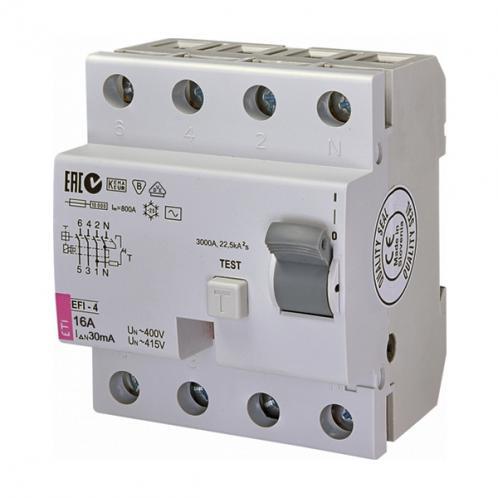 Диференційне реле EFI-4 AC 16/0.03