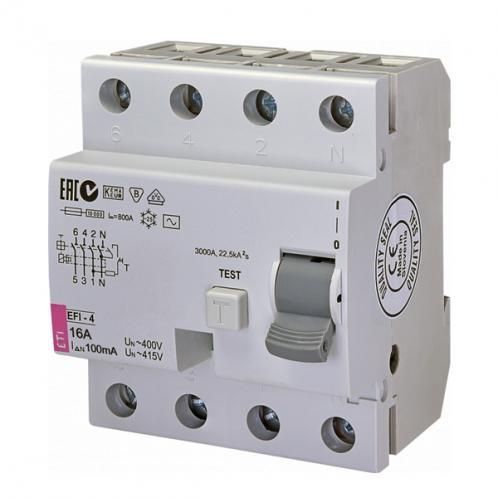 Диференційне реле EFI-4 AC 16/0.1