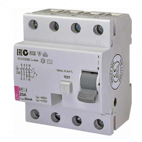 Диференційне реле EFI-4 AC 25/0.03