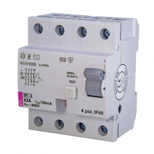 Дифференциальное реле EFI-4 AC 63/0.1