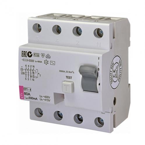 Дифференциальное реле EFI-4 AC 80/0.5