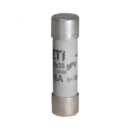 Цилиндрический предохранитель ETI CH10x38 gPV 16A/1000V DC UL