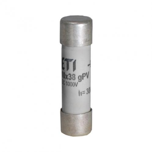 Цилиндрический предохранитель ETI CH10x38 gPV 3A/1000V DС