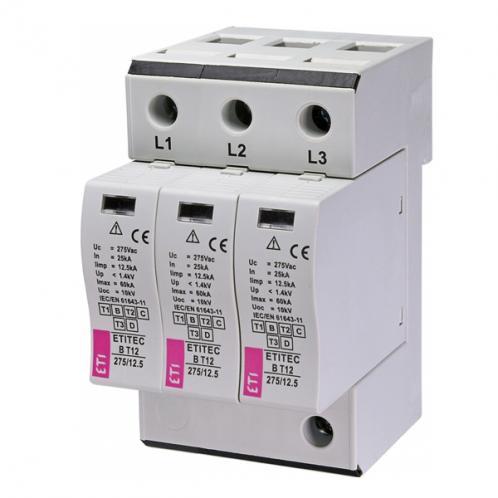 Обмежувач перенапруги ETITEC B T12 275/12,5 3+0