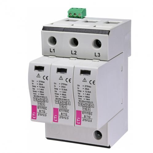 Обмежувач перенапруги ETITEC B T12 275/12,5 3+0 RC