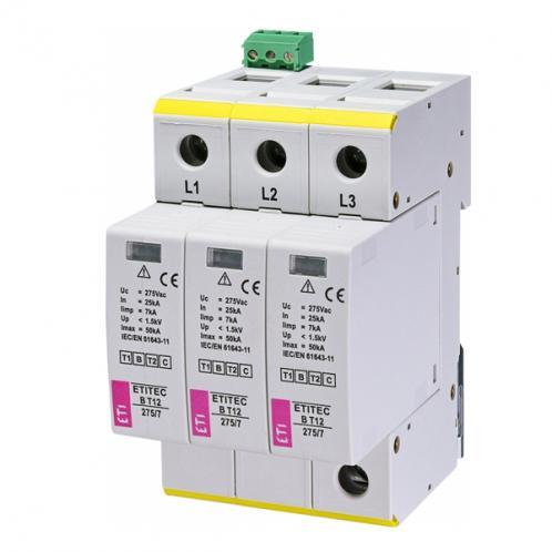 Обмежувач перенапруги ETITEC B T12 275/7 3+0 RC