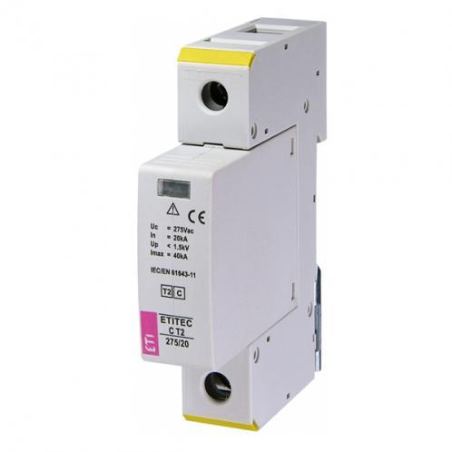 Обмежувач перенапруги ETITEC C T2 275/20 1+0