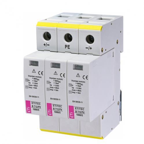 Обмежувач перенапруги ETI ETITEC B T12 PV 1000/5
