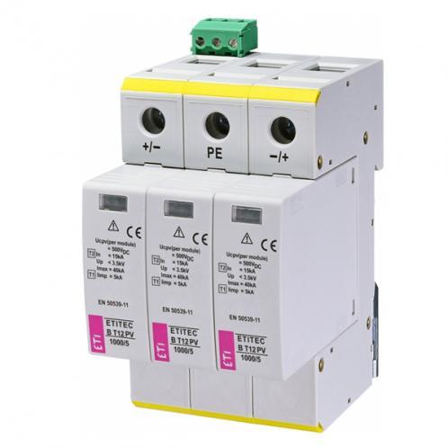 Ограничитель перенапряжения ETI ETITEC B T12 PV 1000/5 RC