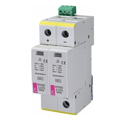Обмежувач перенапруги ETI ETITEC C T2 PV 550/20 RC
