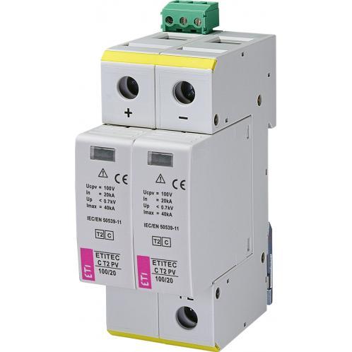 Ограничитель перенапряжения ETI ETITEC C T2 PV 100/20