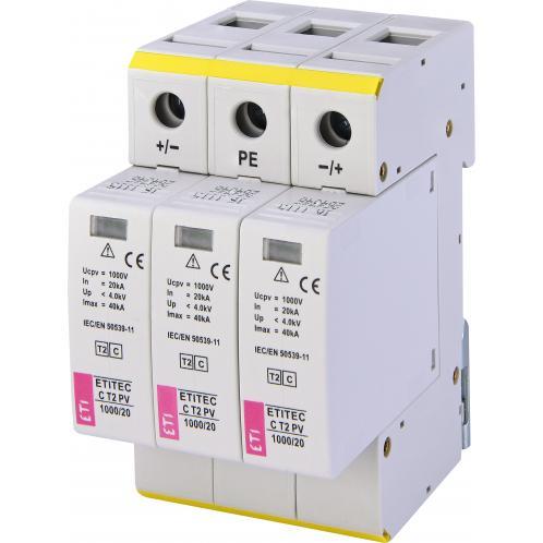 Ограничитель перенапряжения ETI ETITEC C T2 PV 1000/20