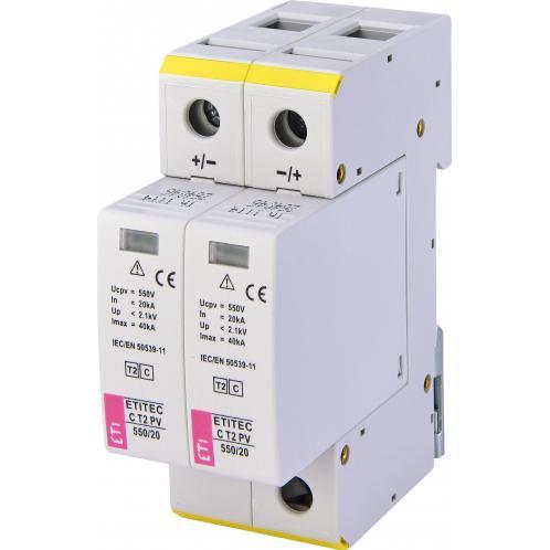 Ограничитель перенапряжения ETI ETITEC C T2 PV 550/20