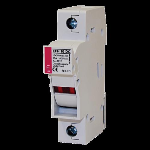 Роз'єднувач ETI PCF 10 DC 2p для циліндричних запобіжників 10х38 DC
