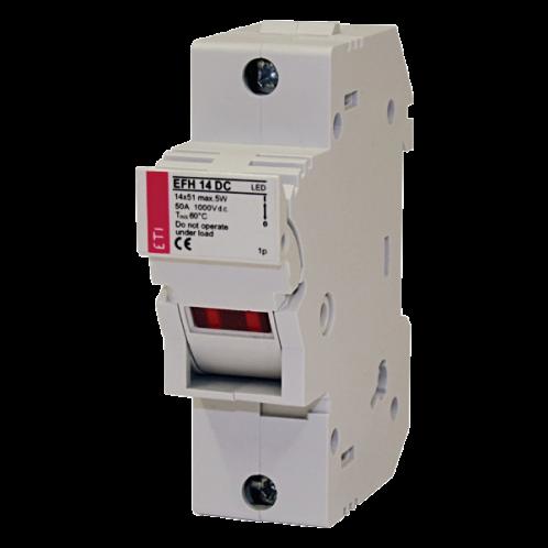 Разъединитель  для  предохранителей ETI EFH 14 DC 1p LED