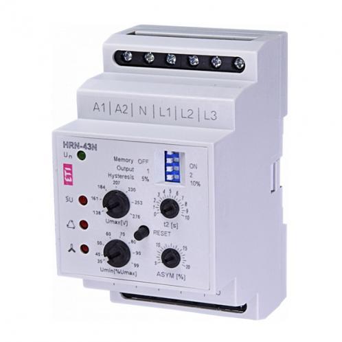 Реле контроля напряжения в 3-фазных сетях HRN-43N 400