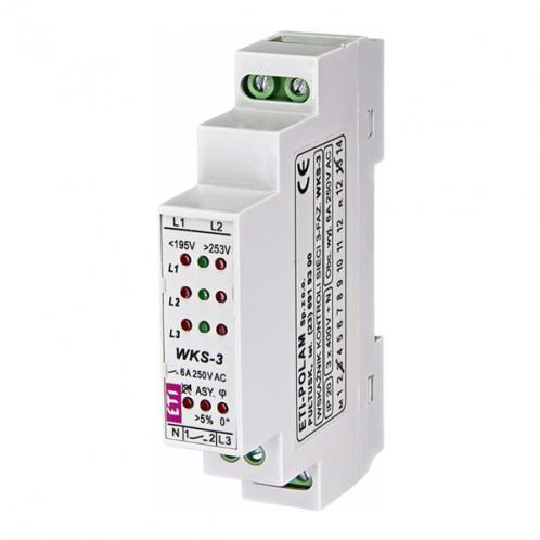 Реле контролю параметрів мережі WKS-3