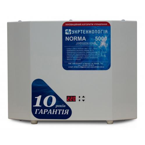Стабилизатор напряжения Укртехнология НСН-5000 Norma-N (HV)