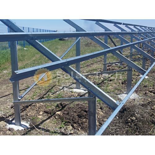 Наземная система креплений на 20 модулей под бетонирование свай