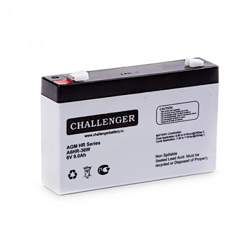 Акумуляторна батарея Challenger А12HR-36W, 12В, 9А/г, AGM