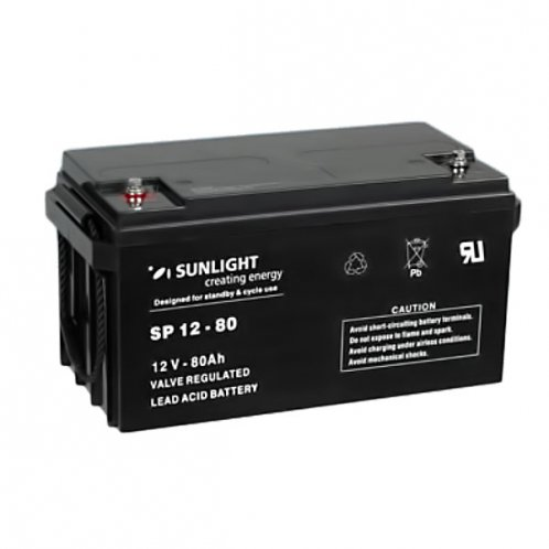 Аккумуляторная батарея SunLight SPb 12-80