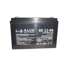 Скільки коштує Акумуляторна батарея ALVA AS12-80